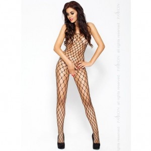PASSION EROTIC LINE CATSUIT NEGRO BS001