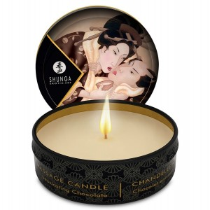 SHUNGA MINI CARESS BY CANDELIGHT VELA MASAJE CHOCOLATE 30ML