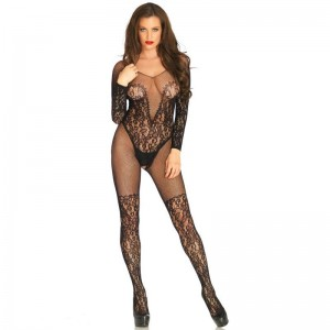 LEG AVENUE BODYSTOCKING RED Y ENCAJES