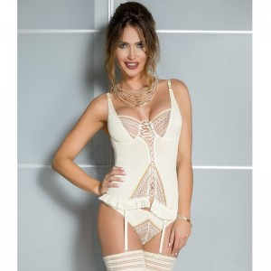 CASMIR CORSET CONNIE COLOR CREMA TALLA S/M