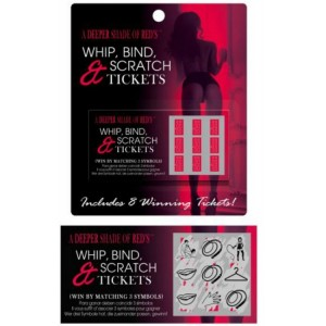 KHEPER GAMES JUEGO WHIP, BIND AND SCRATCH TICKETS ES/EN/FR/DE