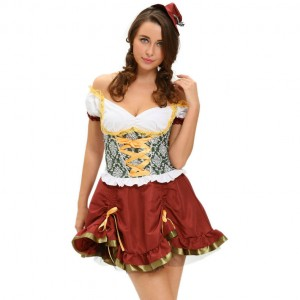 QUEEN COSTUME OCTOBERFEST SIZE M