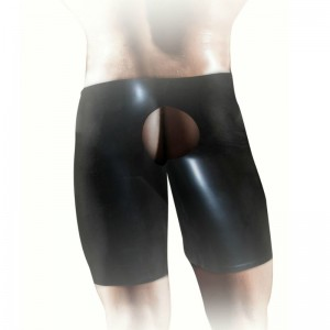 FISTIT - SHORTS DE LATEX UNISEX - NEGRO L/XL