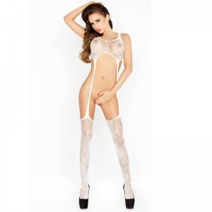 PASSION WOMAN BS016 BODYSTOCKING BLANCO TALLA UNICA