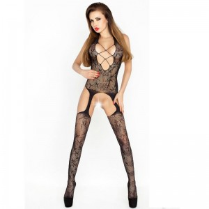 PASSION WOMAN BS017 BODYSTOCKING NEGRO TALLA UNICA
