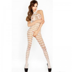 PASSION WOMAN BS022 BODYSTOCKING BLANCO TALLA UNICA
