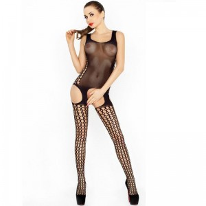 PASSION WOMAN BS029 BODYSTOCKING NEGRO TALLA UNICA