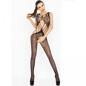 PASSION WOMAN BS030 BODYSTOCKING NEGRO TALLA UNICA