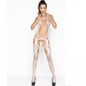 PASSION WOMAN BS039 BODYSTOCKING BLANCO TALLA UNICA