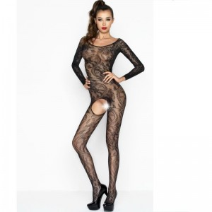 PASSION WOMAN BS042 BODYSTOCKING NEGRO TALLA UNICA