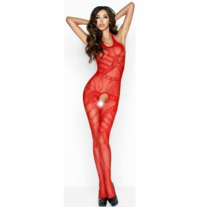 PASSION WOMAN BS037 BODYSTOCKING ROJO TALLA UNICA
