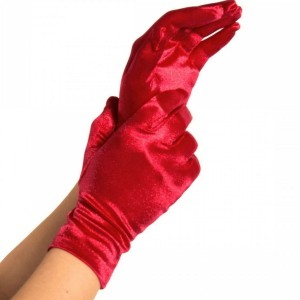 LEGAVENUE GUANTES SATIN ROJO