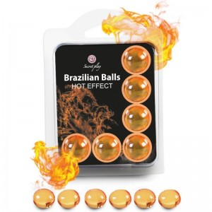 SECRETPLAY SET 6 BRAZILIAN BALLS EFECTO CALOR